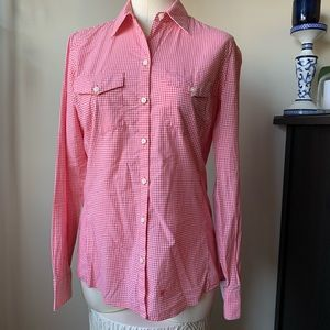 Banana Republic soft wash red gingham button-down